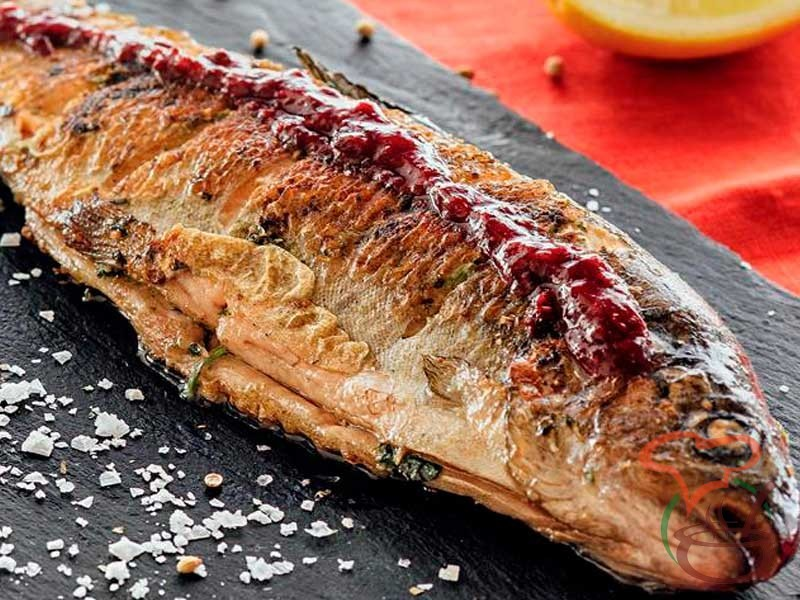 Trout roasted on coals