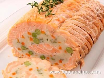 Festive roll salmon