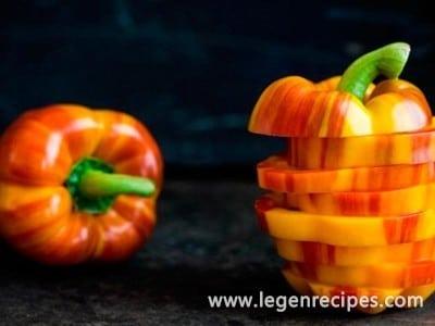 Striped pepper for children