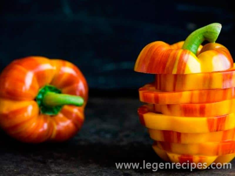 Striped pepper for children