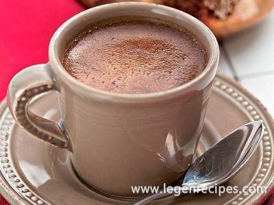 Strong coffee with cardamom