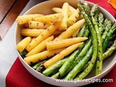 Asparagus and corn