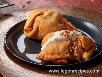 BBQ butter chicken samosas