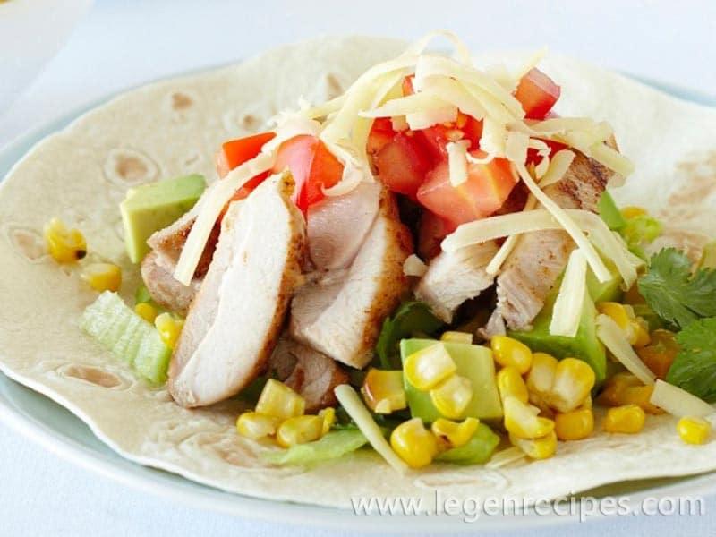 BBQ chicken & sweetcorn burritos