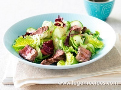 Beef and cucumber salad