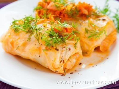 Cabbage rolls with NAPA cabbage and red fish