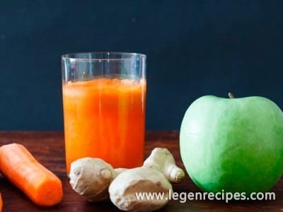 Drink Apple with carrot and ginger