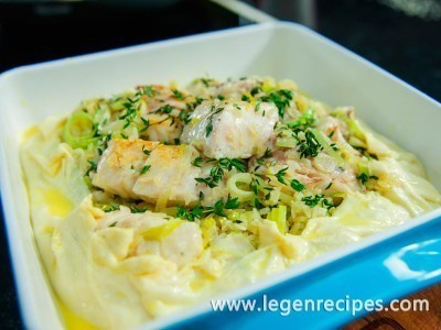 Fish pie with rice