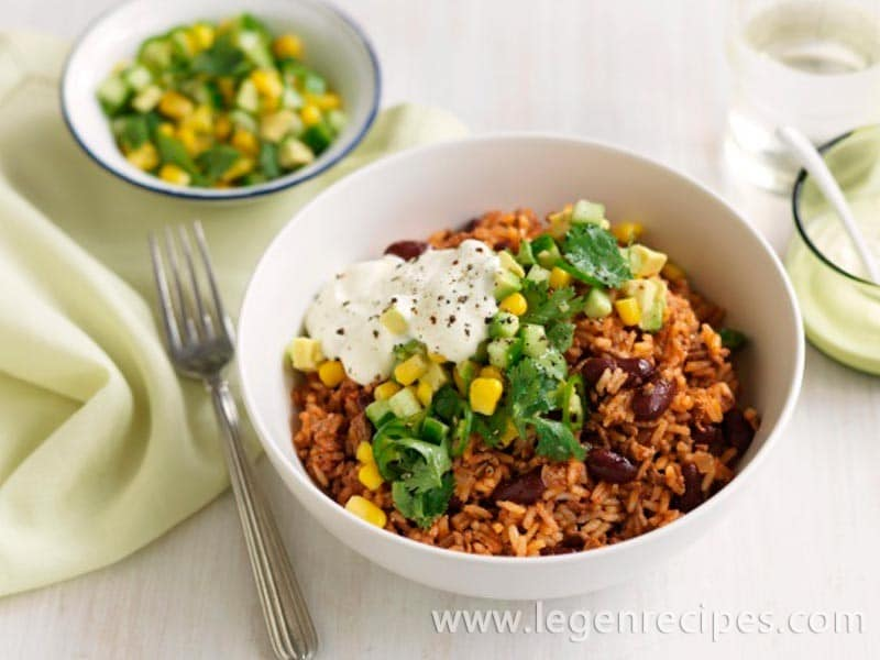 Healthy Mexican rice & beef bowls