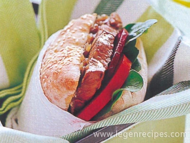 Healthy lamb burgers
