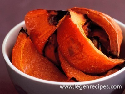 Honeyed pumpkin wedges