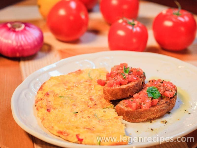 Italian omelet with vegetables