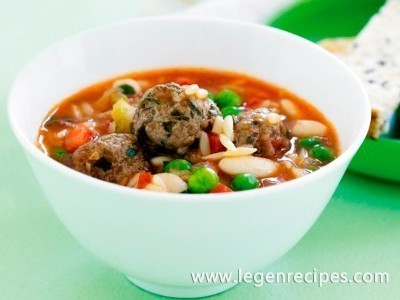 Mini meatball minestrone