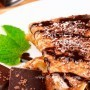 Pancakes with banana and chocolate