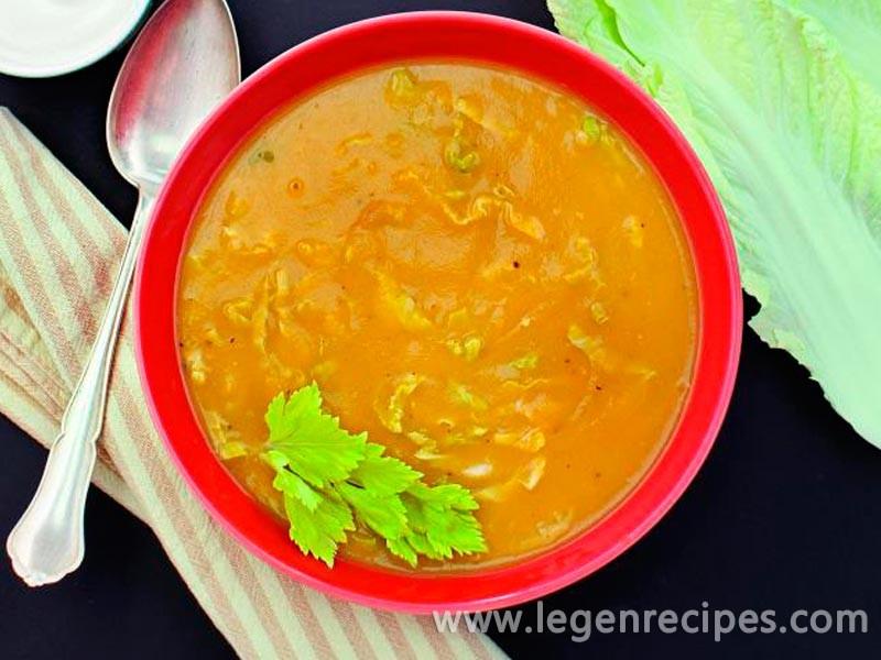 Potato soup with NAPA cabbage