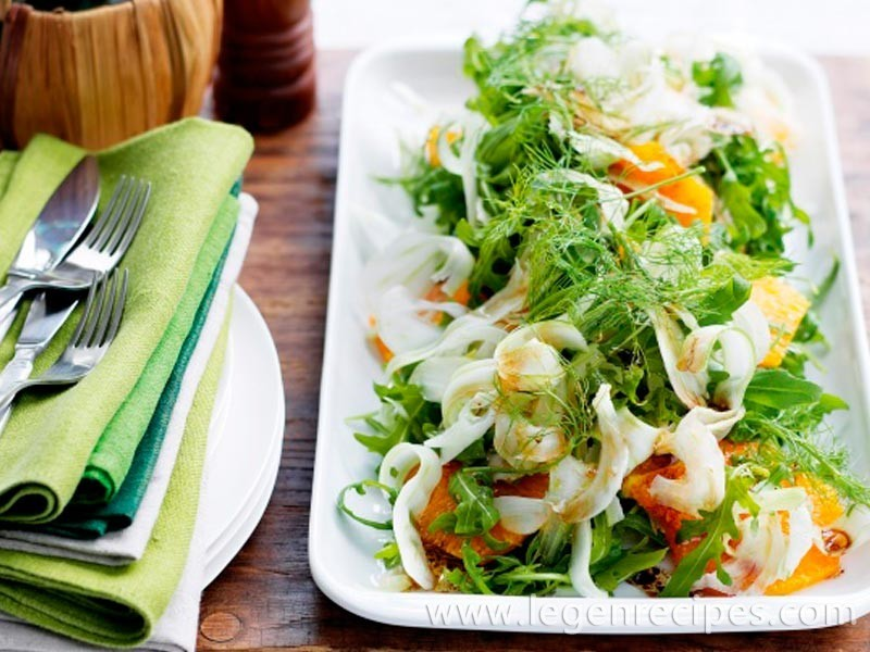 Rocket salad with orange & fennel