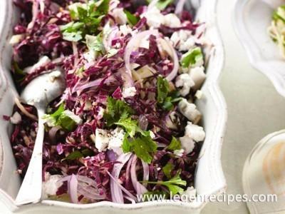 Shaved fennel, radicchio & feta salad
