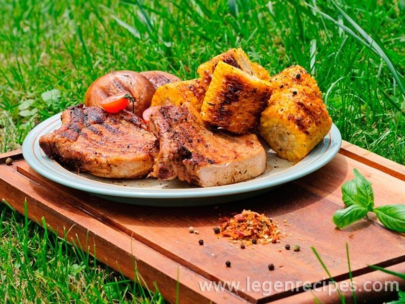 Steak with seasonal vegetables