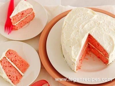 Strawberry White Chocolate Champagne Cake