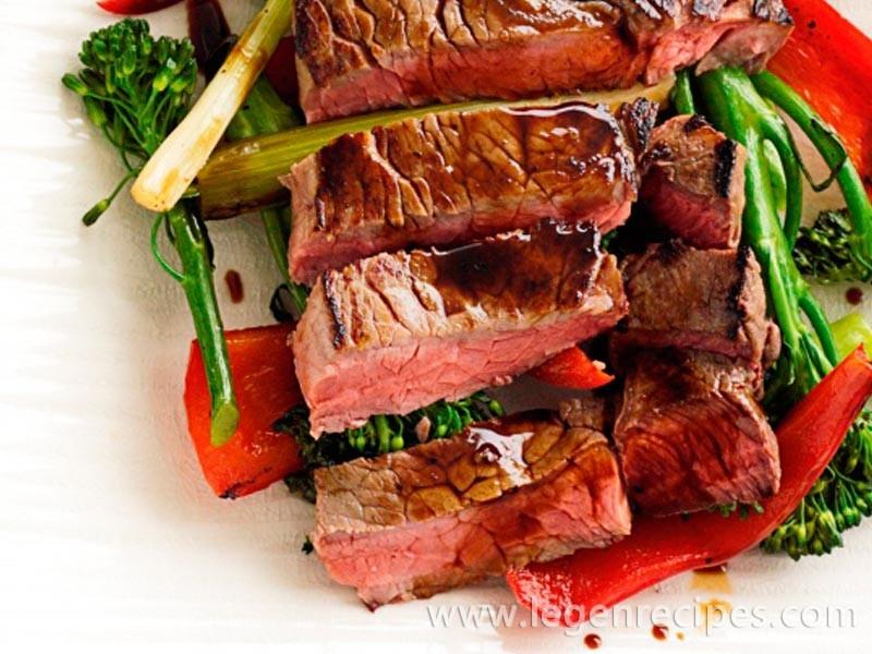 Teriyaki beef with vegetables