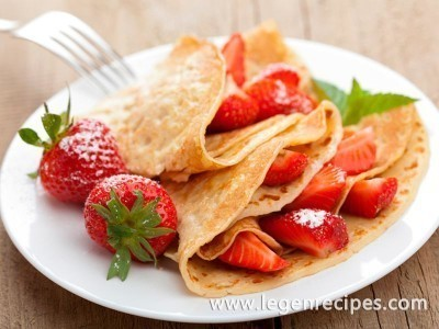 The pancakes recipe water