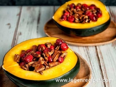 Acorn Squash with Walnuts & Cranberries Recipe