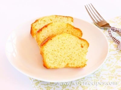 Air cake recipe with lemon syrup