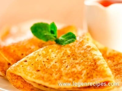 An unusual recipe lush pancakes with holes