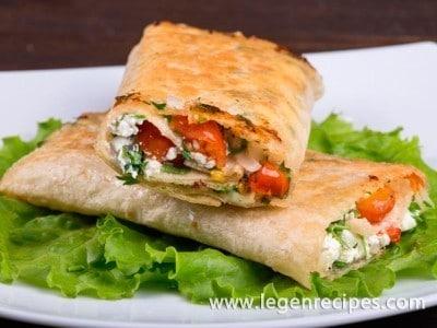 Appetizer recipe: Suluguni in pita bread