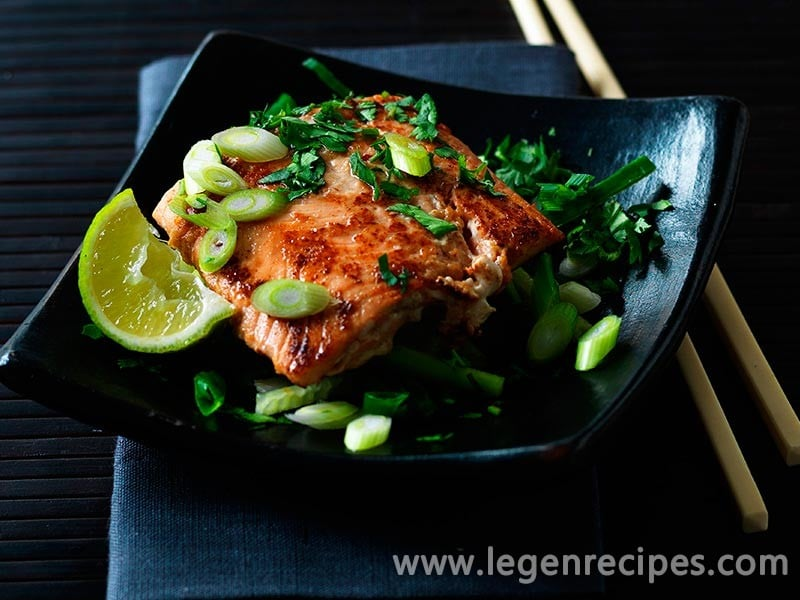 Asian salmon fillets