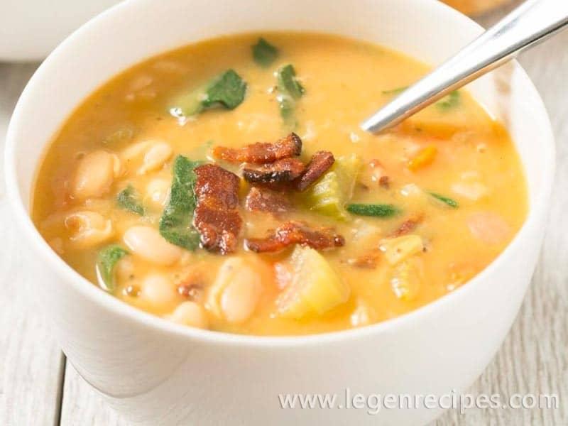 Bacon and White Bean Stew