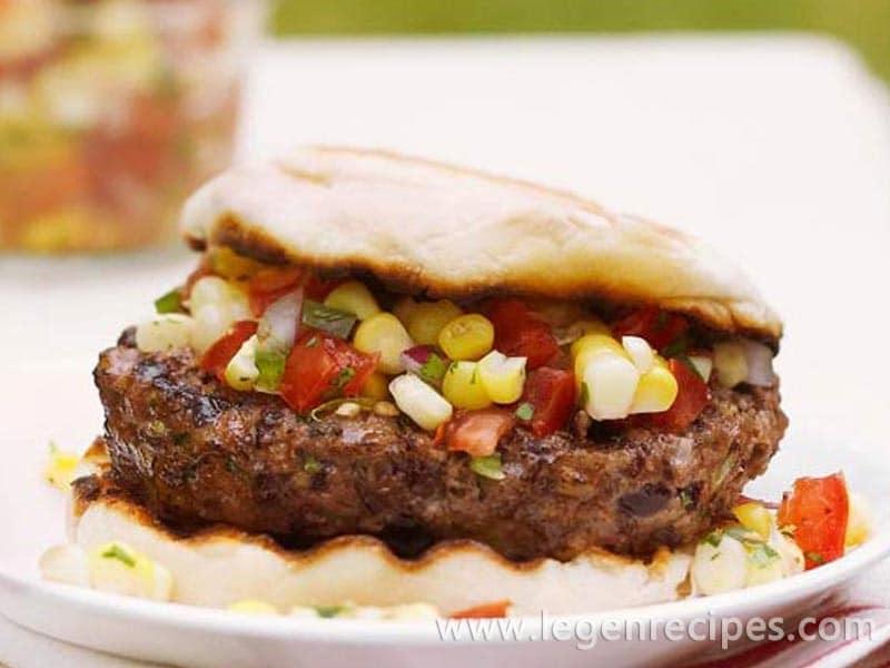 Black Bean Burgers with Sweet Corn Salsa