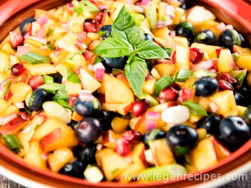Blueberry-Peach Salsa Recipe