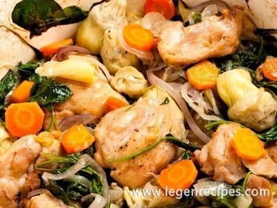 Chicken With Spinach And Artichokes Recipe