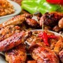 Chicken wings in the oven with honey-soy sauce
