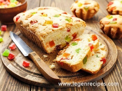 Citrus cake with candied fruit