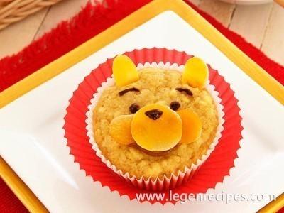 Corn muffins Winnie the Pooh