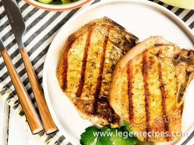 Curried Pork Chops With Honeydew And Cucumber Recipe