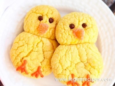 Easter Chicks Lemon Cookies