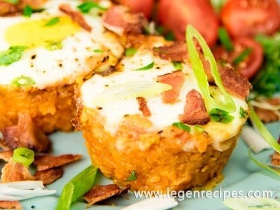 Eggs In Sweet Potato Nests Recipe