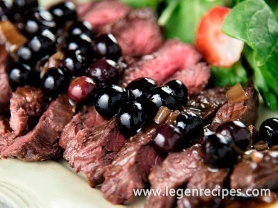 Flank Steak With Blueberry Sauce Recipe