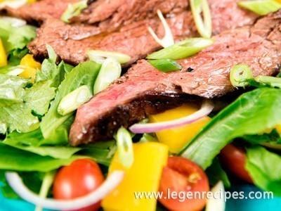 Flank Steak with Fresh Greens Recipe