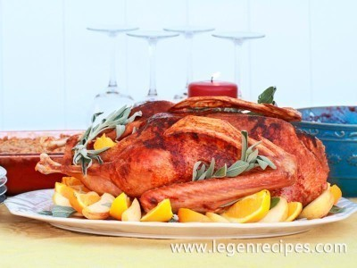 Goose with roasted apples
