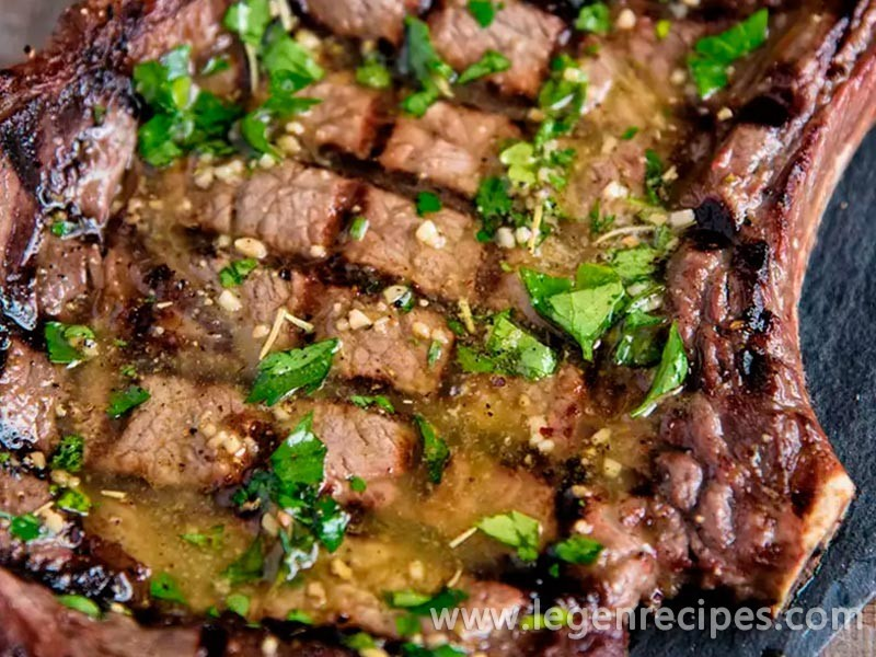 Grilled Steaks With Herb Butter Recipe