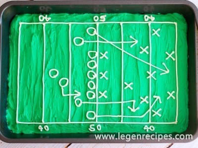 Hail Mary Football Field Brownies