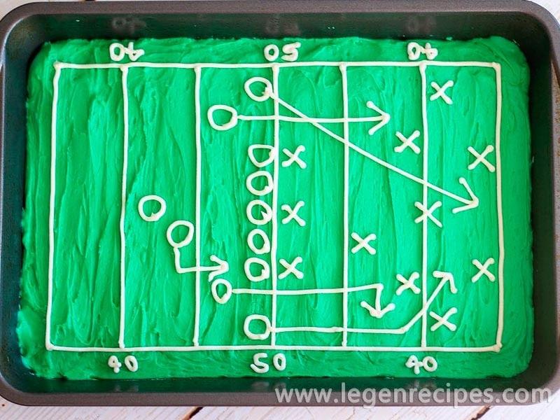 Hail Mary Football Field Brownies