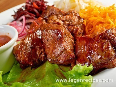 Kebab in the oven: meat recipe in the sleeve