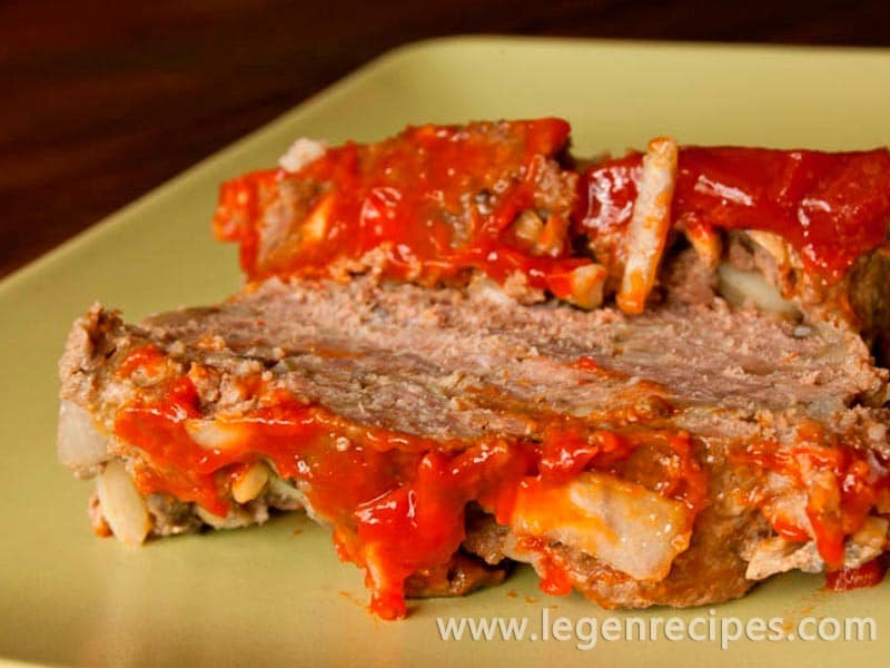 Meatloaf with mushrooms recipe