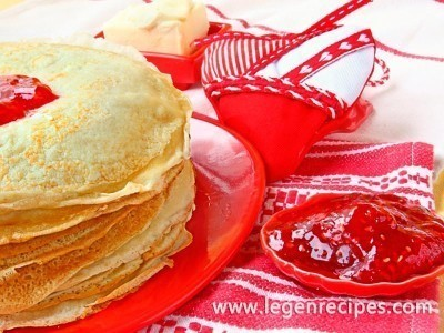 Milk pancakes: a traditional recipe