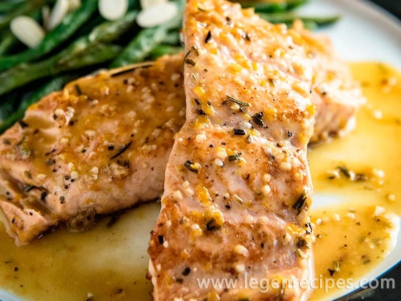 Orange-Rosemary Seared Salmon Recipe